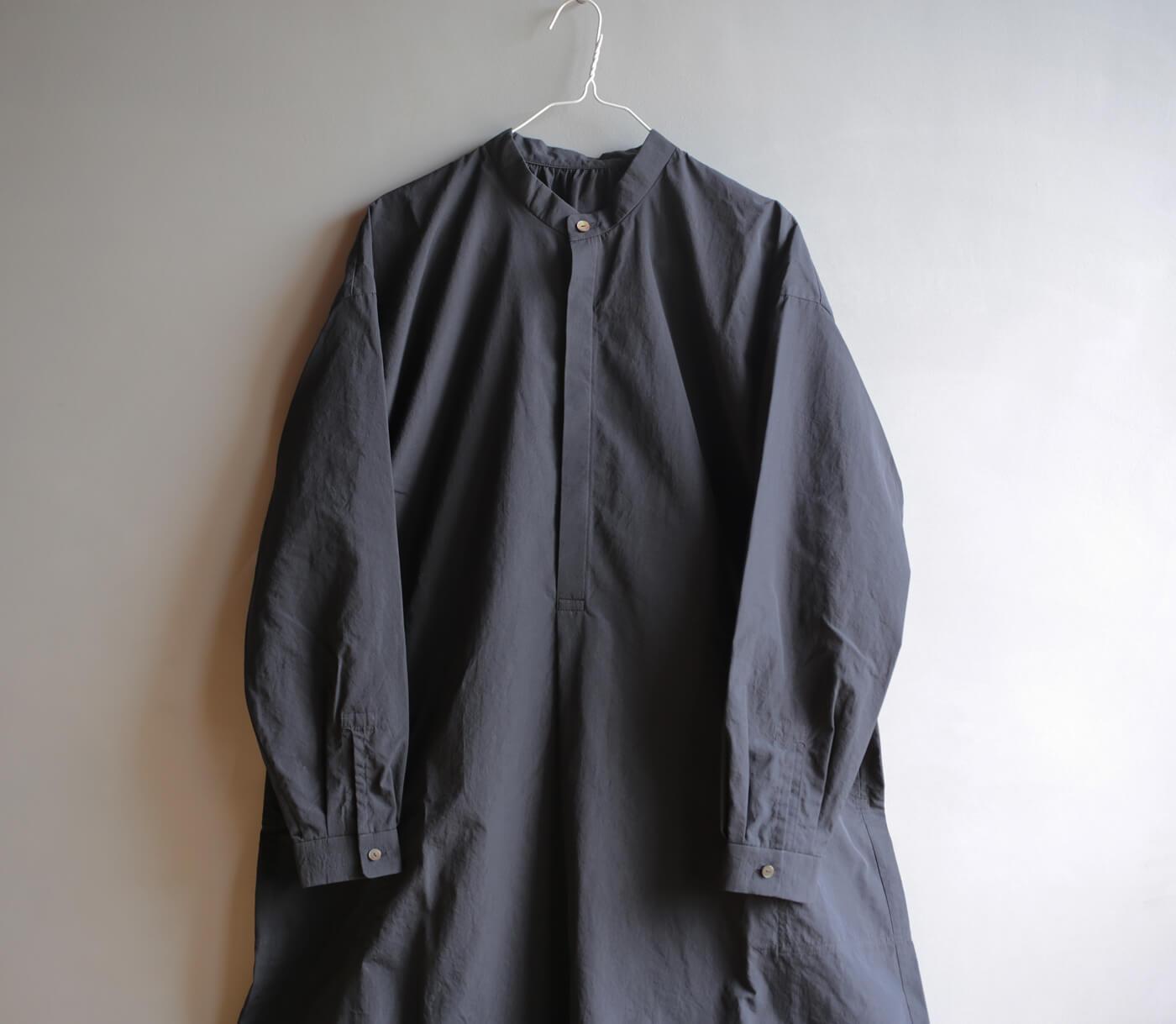 シルクコットンのシャツワンピースのアイキャッチ画像