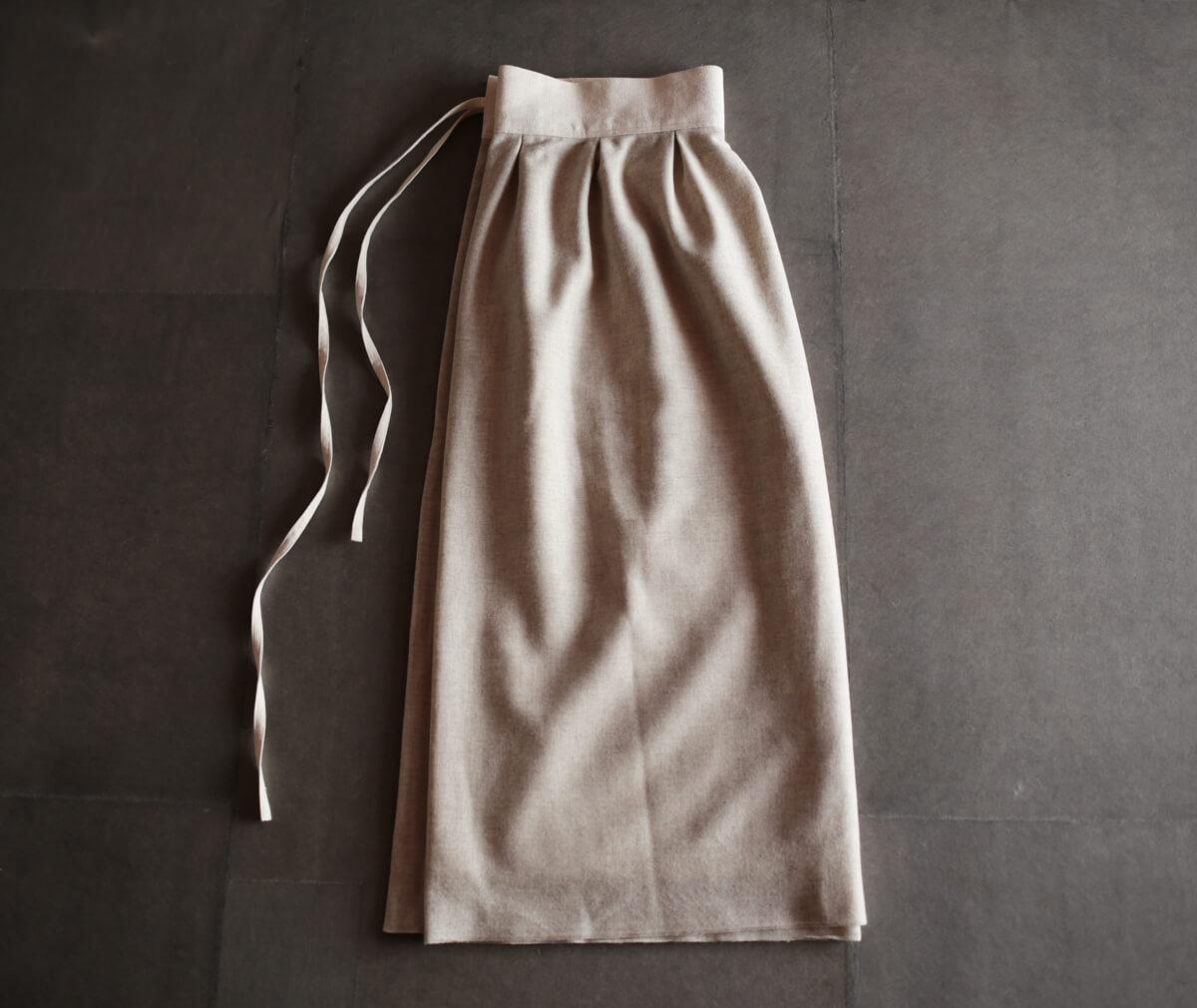 ウール×カシミヤのラップスカートのアイキャッチ画像