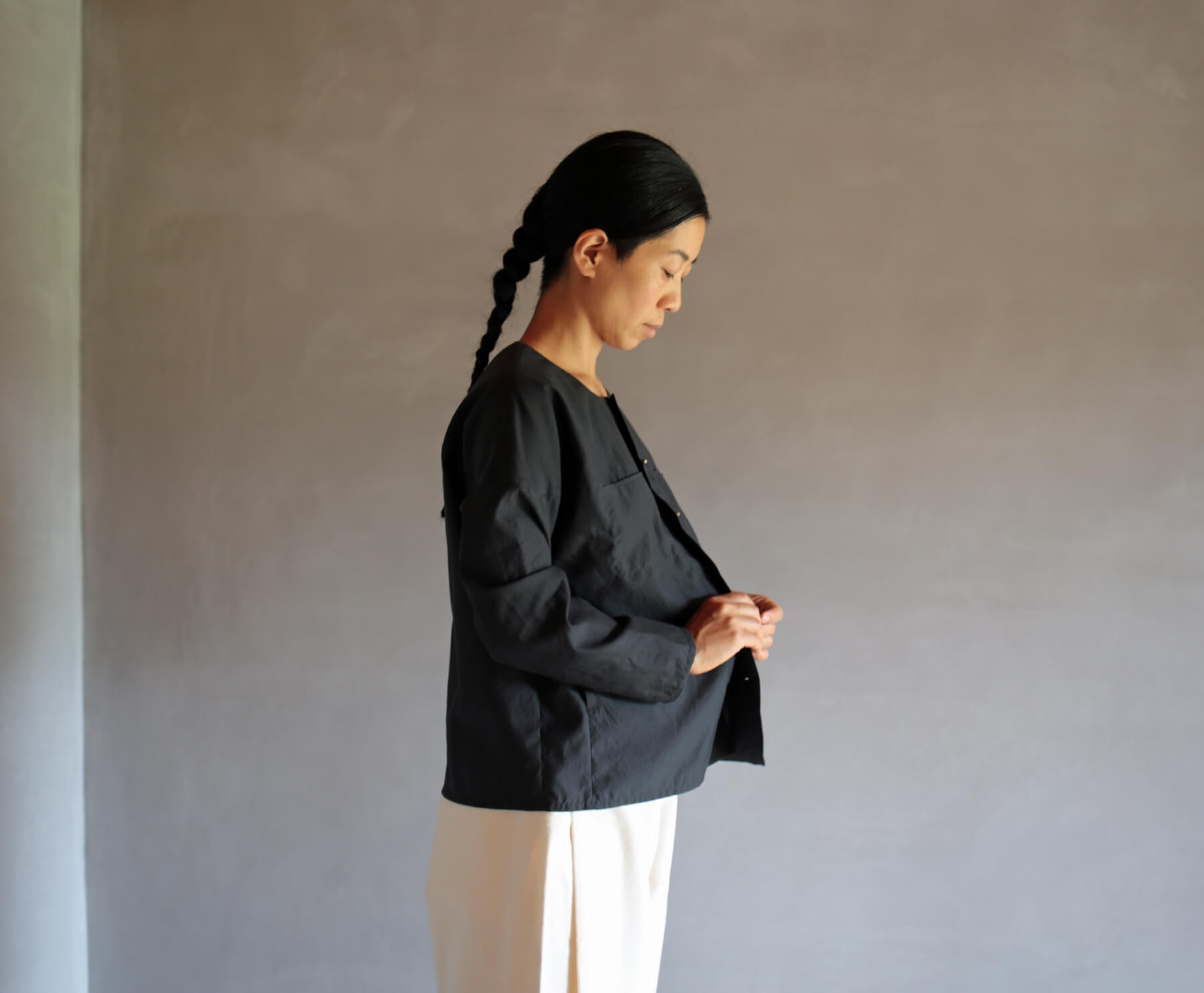 シルクコットンのヨークシャツのアイキャッチ画像